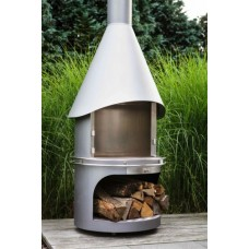 barbecue hades fireplace M  70diam h 235cm inox