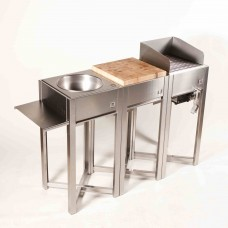 OneQ Houtskool Barbecue | Set Inox