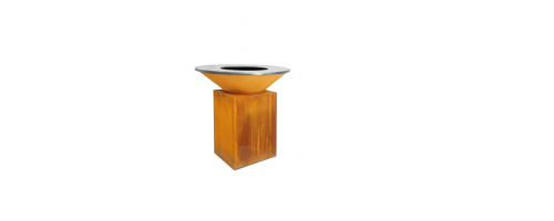 Ofyr Houtskool Barbecue en Sfeervuur | Cortenstaal 100x100