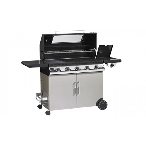 Gasbarbecue beefeater discovery email 5 bnr 1100e met trolley - Plancha trolley gas met deksel ...