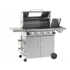 gasbarbecue Beefeater Discovery full inox 4 bnr (1100s) met trolley