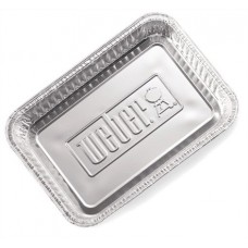 Weber aluminium lekbakjes groot, 10 stuks