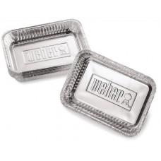 Weber aluminium lekbakjes klein, 10 stuks
